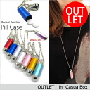 Outlet pendant medicine bottle pill case necklace chain fs3gm