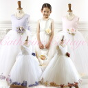 Translation and outlet kids dress children dresses elegant satin petal dress formal gown