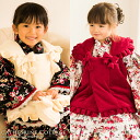 Children dress sale! Ruffles & ribbons 被布 Shichi 100 cm for celebrating the Festival together with that kimono dress