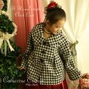 아이 드레스 완매 sd새발자국 무늬의 하프 코트(하이틴・레이디스용) 키즈 쥬니어 드레스나 원피스와 아울러 포멀 염가