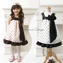 "Real cheap ""translation and outlet» kids dress children dresses sleeveless polka dot dress 100 cm / 110 cm/120 cm / 130 cm/140 cm / 150 cm"
