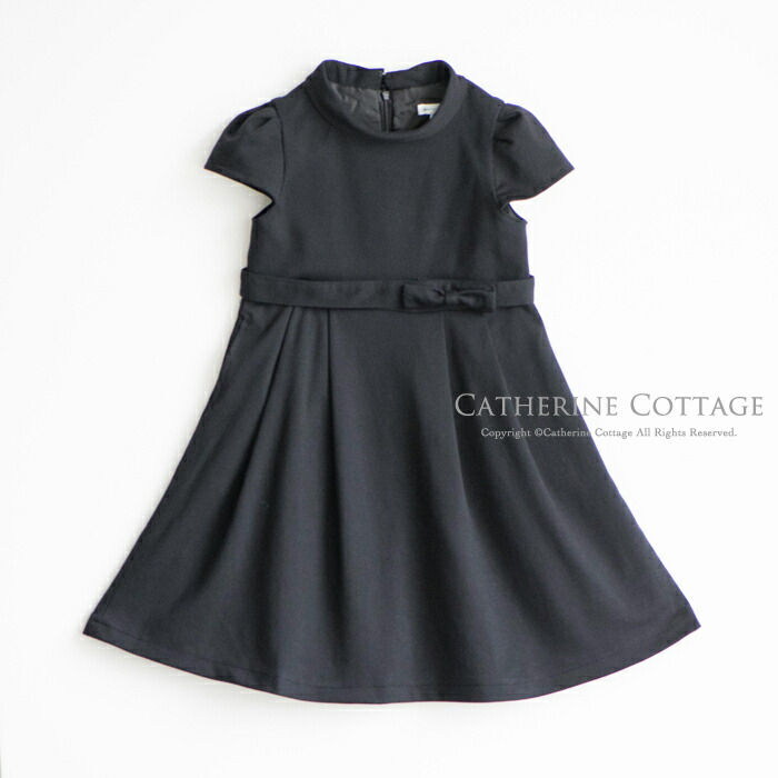 ブラックドレス 黒 ワンピース 半袖