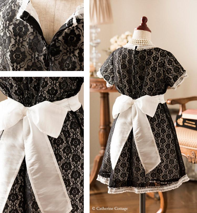子供ドレス 女の子用 レース重ねフレアワンピース フォーマル ジュニア 発表会・結婚式に ホワイト バックスタイル
