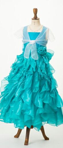 子どもロングドレス 青