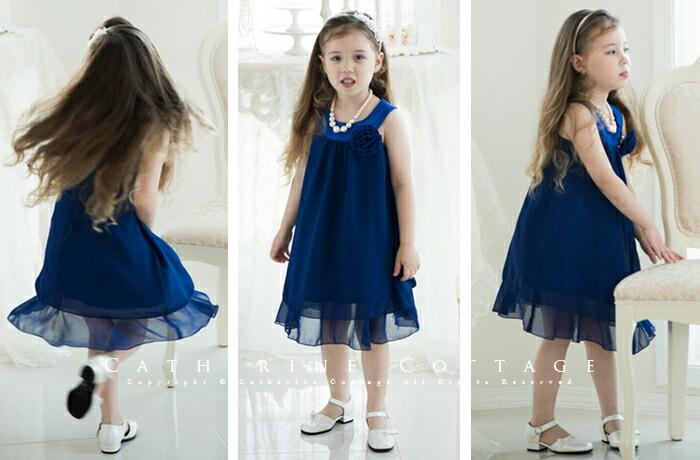 子供ドレス 青