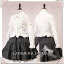 Sale 2-WAY frilly blouse Womens back lace-up long-sleeved short sleeve amphibious