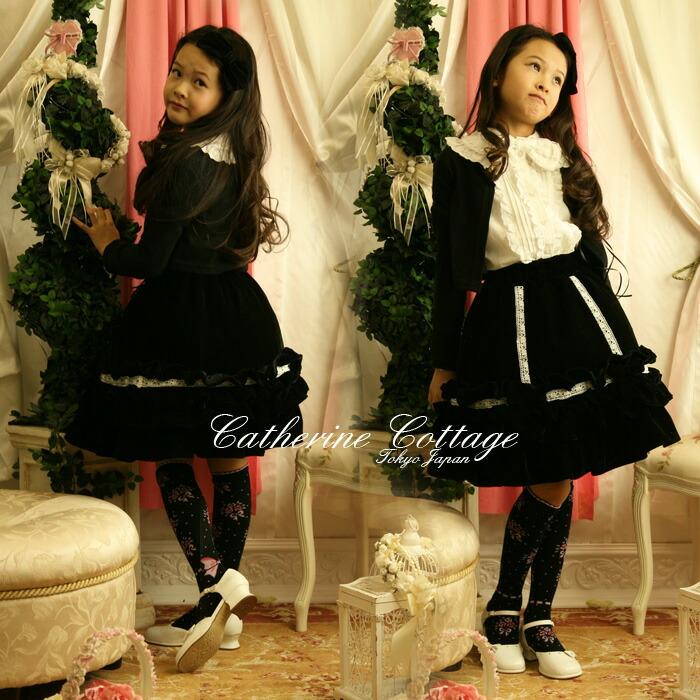 女の子 子供服 スカート ベロア 発表会 衣装
