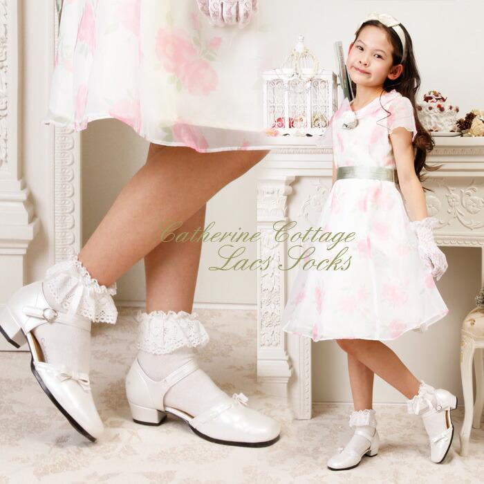 in Japan torchon lace children's socks knee-high socks and short socks ...