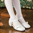 닷 무늬 타이츠 키즈 아이 여자 아이 발표회 결혼식 졸업식 입학식흰색 off-white