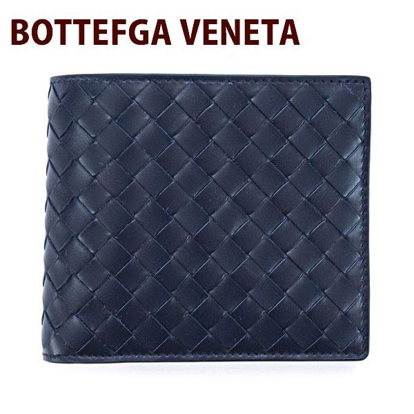 BOTTEGA VENETA ボッテガヴェネタ 財布 二つ折り財布 メンズ ダークネイビー 193642 V4651 4013