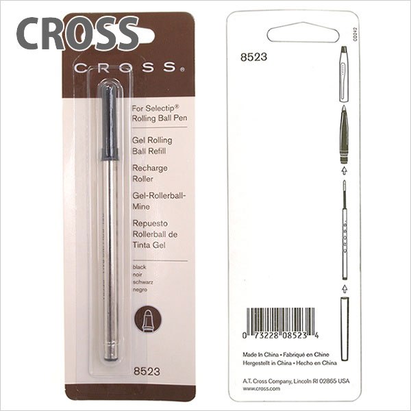 クロス CROSS ボールペン 替え芯 レフィル ローラーボール 水性 ジェルインク ローリング ブラック 8523