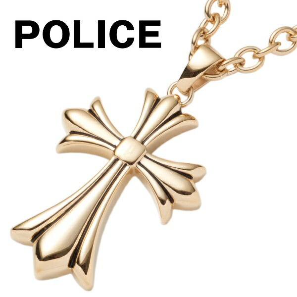 ポリス POLICE ネックレス メンズ ペンダント グレース GRACE クロス 十字架 ゴールド 25154PSG02 GOLG