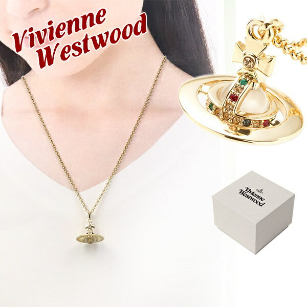 �����������󥦥����ȥ��å� Vivienne Westwood �ͥå��쥹 ��� ��ǥ����� �����ˡ������֥ڥ����� ������� TINY ORB PENDANT GOLD