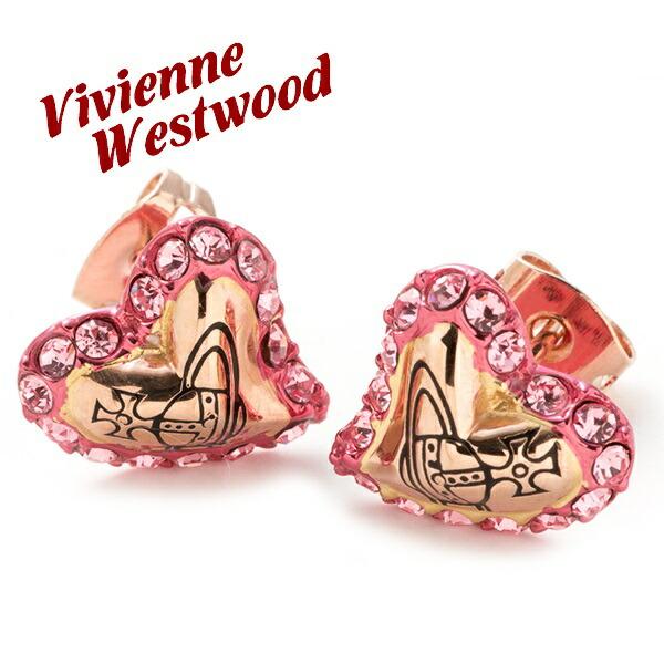 ヴィヴィアンウエストウッド Vivienne Westwood ピアス レディース アクセサリー ハート ジタ ZITA EARRINGS ピンクゴールド BE418/8