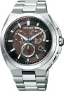 !!! CITIZEN ATTESA atessa Eco-Drive eco-drive radio wave watches chronograph AT3010-55 W mens watches