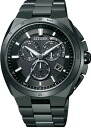 !!! CITIZEN ATTESA atessa Eco-Drive eco-drive radio watch chronograph AT3014-54E mens watches