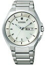 ! (Additional shipping COD) citizen CITIZEN watch watches mens ATTESA atessa atessa eco-drive radio clock standard AT6010-59P