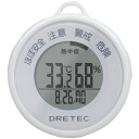 DRETEC heat stroke, influenza warning white O-244WT in total