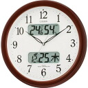 !!(the collect on delivery costs the postage separately.) Electric wave wall clock ネムリーナカレンダー M01 brown metallic-colored 4FYA01-006 Shin pull / living / miscellaneous goods / bedroom with the Citizen (citizen) calendar indication