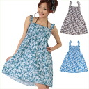 Women's /fs3gm / swimsuit / small floral print shirring dress bikini set