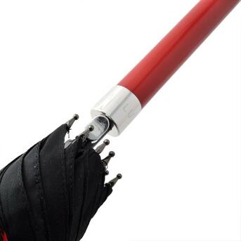 フルトン Fulton L723 029299 Bloomsbury-2 Lips Grid  「Lulu Guinness」ルルギネス コラボモデル ワンタッチ ジャンプ傘 自動開き 長傘 2重構造 ブルームズバリー アンブレラ 表と裏で異なるデザインが魅力的♪