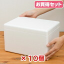 Styrofoam box (mini) TI-56 V lid ( W 30 × D21×H18cm ) buy 10 pieces