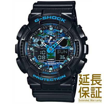 カシオ 腕時計 CASIO 時計 正規品 GA-100CB-1AJF メンズ G-SHOCK ジーショック ブラック ブルー カモフラージュ