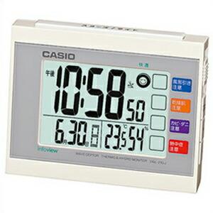 CASIO カシオ クロック DQL-210J-7JF 電波置時計 生活環境お知らせクロック ホワイト 4971850983880