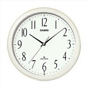 CASIO カシオ クロック IQ-1060J-7JF 電波 掛時計 パールホワイト 白