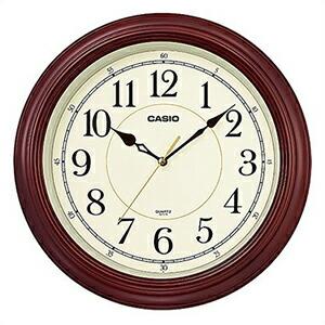CASIO カシオ クロック IQ-121S-5JF 掛時計 壁掛け スムーズ秒針 木枠