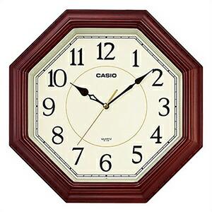 CASIO カシオ クロック IQ-123S-5JF 掛時計 壁掛け スムーズ秒針 木枠