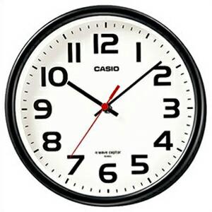 CASIO カシオ クロック IQ-800J-1JF 電波掛置兼用時計 wave ceptor ウェーブセプター ブラック 4971850983934【ヤマダ電機】