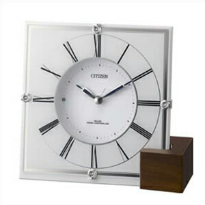 リズム時計 CITIZEN シチズン クロック 4RY707 003 電波置時計 電波掛時計