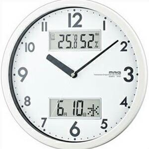 NOA ノア精密 腕時計 W-631 WH 掛け時計 MAG マグ ダブルメジャー ホワイト