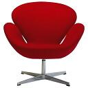 スワンチェアレッドプレミアムファブリックヤコブセンアルネ Jacobsen North Europe chair of high quality
