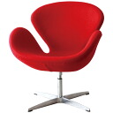 Red Jacobsen Swan Chair by Arne Jacobsen