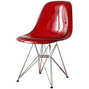 Shell Chair Eames DSR clear Red