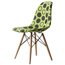Eames DSW fabric green black shell chair dining chair