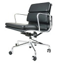 Eames Office Chair aluminum short back soft pad black