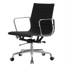 Eames Office Chair aluminum short back flat pad black type 2