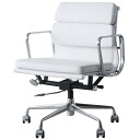 Eames aluminum Chair Office Chair Middle back soft white PVC aluminum group
