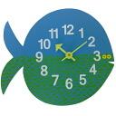 ジョージネルソンズータイマークロックフィッシュフェルナンドザフィッシュ clock