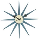 George Nelson sunburst clock blue