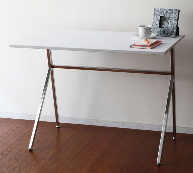 : Simple modern frame desk white work desk fashion Shin pull desk