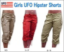 UFO GIRL's HIPSTER SHORTS girls hipster shorts