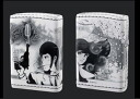 Lupin III Zippo lighters 40th Anniversary Special No.4 Lupin & Fujiko child leather roll