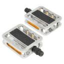 """wellgo """"C254DU/s' C254DU square pedal reflectors built silver [125-00131]"""