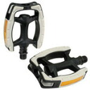 GIZA PRODUCTS ( ghisaproducts ) PDL09100 ERGO arc PL pedals black white [PDL09100]