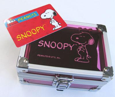 スヌーピー チャーミングアイ時計はギャランティーカード付プレミアムBOXでお届け