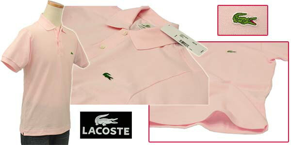 Lacoste ラコステ 半袖 鹿の子 ポロシャツ ピンク